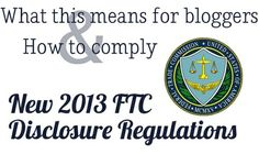 For Bloggers: How to Comply With The New FTC Guidance on Disclosing Products Provided For Review