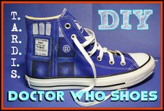 DIY Doctor Who Tardis shoes tutorial! I am so going to do this!