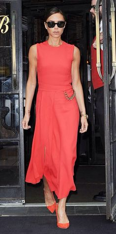 Victoria Beckham in her own line. #Instyle