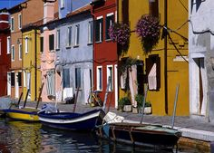 Burano, Italy.  Near Venice.  So bright and colorful it makes you smile! Went there by far one of the highlights of my trip to Italy