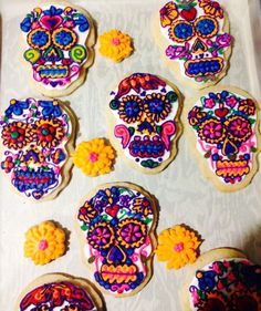 Green Lily Bakery | Sugar Skull Cookies
