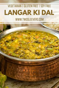 Make a healthy, vegetarian Indian dish in your Instant Pot. This traditional Langar Ki Dal combines two types of dal to make a hearty dish that's perfect. Traditional Indian Food, Punjabi Food, Best Instant Pot Recipe, Desi Food, Indian Dishes, Indian Foods, Side Dishes Easy, Main Dishes, Gluten Free Recipes