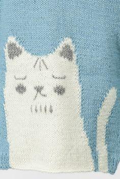 Lapsen Kisu-neulepusero Novita Nalle | Novita knits