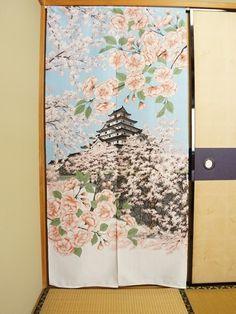 Tsuruga Castle. Dimensions: 80cm x 170cm / 31.5in x 67in Made in Japan
