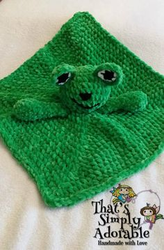 Crochet Frog lovey / security blanket