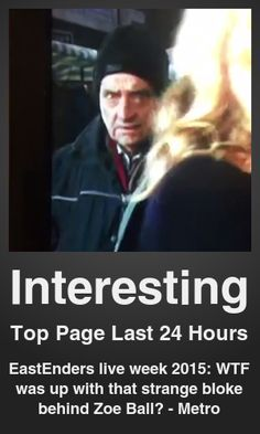 Top Interesting link on telezkope.com. With a score of 1866. --- EastEnders live week 2015: WTF was up with that strange bloke behind Zoe Ball? - Metro. --- #topinterestinglinks --- Brought to you by telezkope.com - socially ranked goodness.