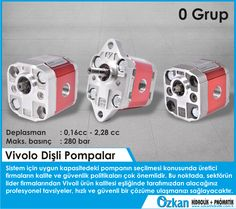 Vivolo Gear Pumps During selecting most suitable pump for your system, the manufacturer quality and security policies are very important. At this point, in the presence of Vivoil product quality, you'll receive professional advices from our vendors that will provide you a fast and safe solution.  Group 0  Displacements from 0.16 cm3/revolution to 2.28 cm3/revolution. Maximum pressures up to 280 bar.  Vivoil Oleodinamica Vivolo
