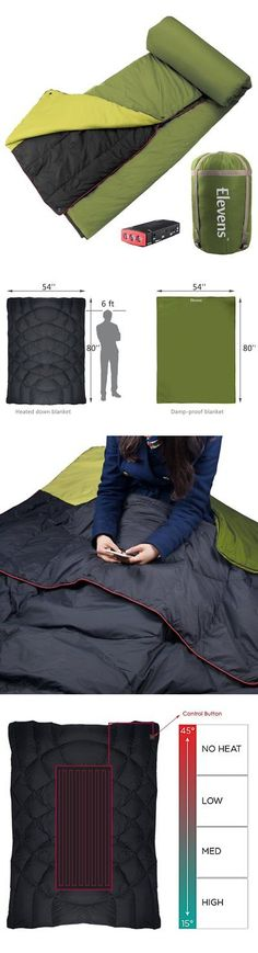 Sleeping Bags 87100: Battery-Operated Heated Down Camping Blanket Sleeping Bag For Cold Weather -> BUY IT NOW ONLY: $169 on eBay!