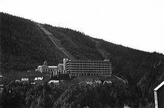 Vemork Hydroelectric Plant at Rjukan, Norway in 1935. In the front building, the Norsk Hydro hydrogen production plant, a Norwegian Special Operations Executive (SOE) team (Operation Gunnerside) blew up heavy water production cells on 27 February 1943 in order to sabotage the efforts of the World War II German nuclear energy project.