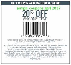 Ulta coupons april 2017