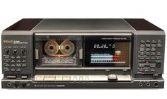 Teac their last high end tape deck - of diecast zinc alloy for the entire frame and drive assembly plus the sides and top quarters covered with wood Cd Audio, Hifi Audio, Hi Fi System, Audio System, Recording Equipment, Audio Equipment, Cassette Vhs, Deck, Tape Recorder