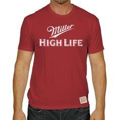 Miller High Life Beer Men's Short Sleeve Vintage Tee