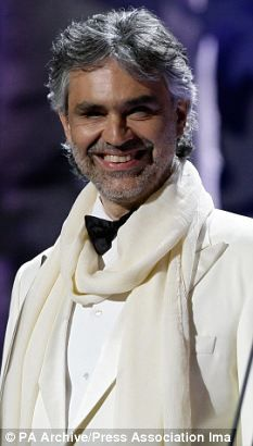 Class performer: Andrea Bocelli performing during the Classical Brits at the Royal Albert Hall in 2008