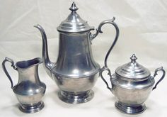 VINTAGE ANTIQUE LOOKING PRISCILLA TEA POT / SET #4504 | eBay
