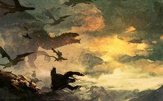 """""""Dragons of Morgoth"""" by Anato Finnstark : lotr Fantasy World, Fantasy Art, Narnia, History Of Middle Earth, Dragons Of Middle Earth, John Howe, Morgoth, Jrr Tolkien, Fantasy Creatures"""