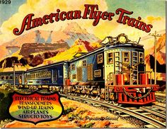American Flyer Trains box cover - 1929
