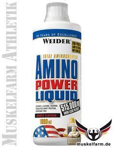 Weider Amino Power Liquid Proteinkonzentrat, optimale Versorgung mit hoch qualitativen Aminosäuren, optimiert mit Leucin, Taurin und Vitamin B6.