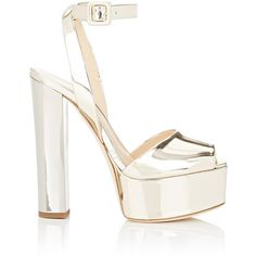 Giuseppe Zanotti Women's Bi-Color Platform Sandals (18,110 HNL) ❤ liked on Polyvore featuring shoes, sandals, heels, giuseppe zanotti, gold, criss-cross sandals, chunky heel sandals, chunky heel platform sandals, heeled sandals and ankle strap sandals