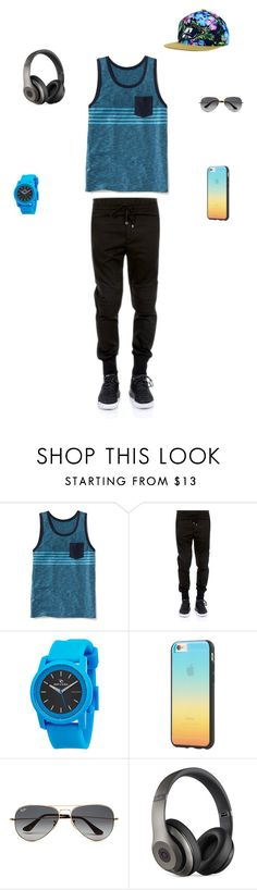 """""""at the beach"""" by sacou2005 ❤ liked on Polyvore featuring Old Navy, Dolce&Gabbana, Rip Curl, Tavik Swimwear, Ray-Ban, Beats by Dr. Dre, Top of the World, men's fashion and menswear"""