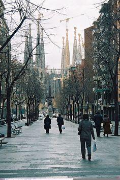 Avinguda di Gaudi-Barcelona by Edek Giejgo, via Flickr
