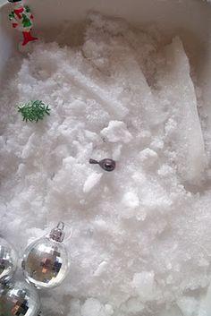 Ice and Snow Sensory Tub