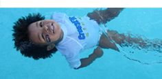 Survival Baby swim lessons-how to turn around and float face up and cry til help arrives. From six months and up. Have to get my son into this!
