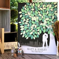 Paperrama Custom Wedding Guestbook ||  Proudly Display Your Custom Wedding Guest Book from Paperramma