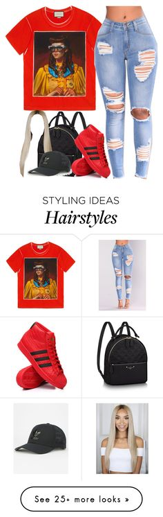 """Furgees"" by queenleci on Polyvore featuring Gucci, NESSA and adidas"