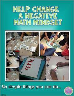 Help Change a Negative Math Mindset~blog post