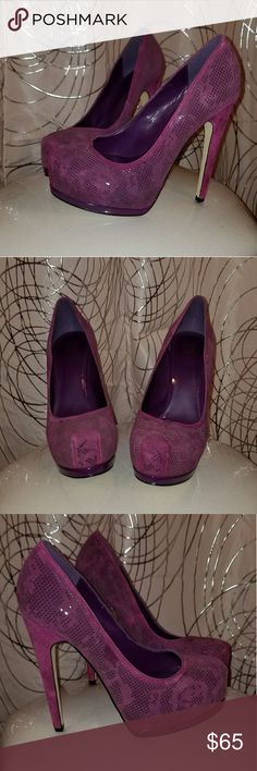 Size 6.5 Heels Purple High Heel Pumps Truth or Dare by Madonna Shoes Heels