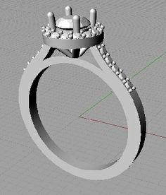 set with a Designer Engagement Rings, Ring Designs, Halo, Mirror, Diamond, Mirrors, Corona, Diamonds, Alone