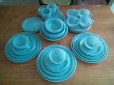 Fire King Turquoise Blue 1956 - 1958