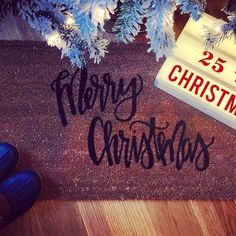 """Our """"Merry Christmas"""" doormat is the perfect way to create an inviting holiday entry way! Christmas Doormat, Insta Followers, Merry Christmas, Photo And Video, Create, Holiday, Instagram, Etsy, Merry Little Christmas"""