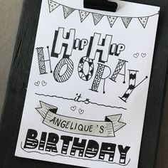Birthday Letters, Diy Birthday, Watercolor Birthday Cards, Handwriting Alphabet, Handwritten Quotes, Happy Birthday Pictures, Writing Styles, Artsy Fartsy, Paper Flowers