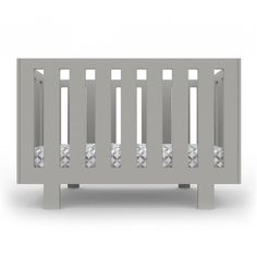 Gray Modern Eicho Crib from @yliving - love the sleek lines! #PNpartner