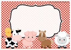 Mamá Decoradora: Kit Imprimible La Granja Gratis Farm Party Foods, Farm Themed Party, Barnyard Party, Farm Animal Party, Farm Animal Birthday, Farm Birthday, Birthday Party Invitations Free, Classroom Birthday, Party Kit