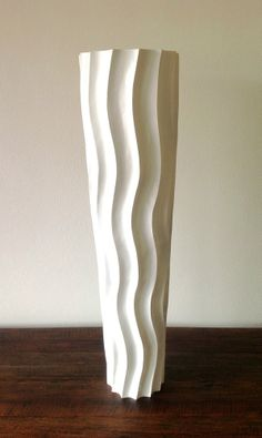 decorative tall floor vase wood height 75cm white mango wood - Decorative Floor Vases