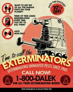 Dr Who Dalek humor