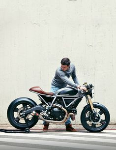 This sharp custom Ducati Scrambler is the first build from the new Holographic Hammer workshop.                                                                                                                                                                                 More