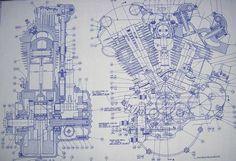 harley davidson pan head motor clip art - Google Search