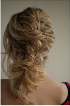 Messy Twist and Pin Side Ponytail #bohemian #girly #vintage #braid