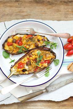 melanzane ripiene di mozzarella e miglio #juliesoissons