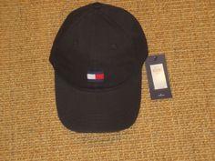68051e13d7ee7 Tommy hilfiger baseball cap mens big flag logo black authentic new