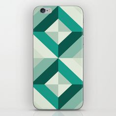 Emerald geometric pattern iPhone & iPod Skin by Azarias for #society6 - $15.00