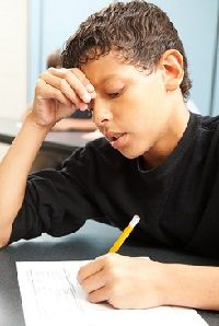standardized testing can be difficult for children, especially those who don't test well. Every child is presented with the same test, so there's no allowance for level of understanding or aptitude to the subject matter.