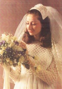 Bellabusta — Brides of Honor: 60 Years of Modest Wedding Gowns 1970s Wedding, Vintage Wedding Photos, Vintage Bridal, Vintage Weddings, Modest Wedding Gowns, Bride Gowns, Wedding Attire, Bridal Headpieces, Bridal Portraits