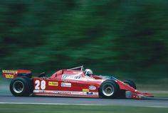 #28 Didier Pironi... Scuderia Ferrari SpA SEFAC... Ferrari 126CK...Motor Ferrari 021 V6 t 1.5...GP Belgica 1981