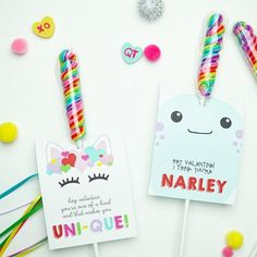 Unicorn Valentines Printable Cards INSTANT DOWNLOAD