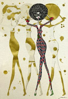 Illustration for 'Fashion Africa', the new book by Jacqueline Shaw.