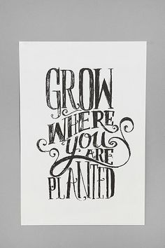 Grow Where You Are Planted Print